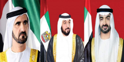 """برقية من رئيس الإمارات وبن راشد وبن زايد للإطمئنان على صحة """"تبون"""""""