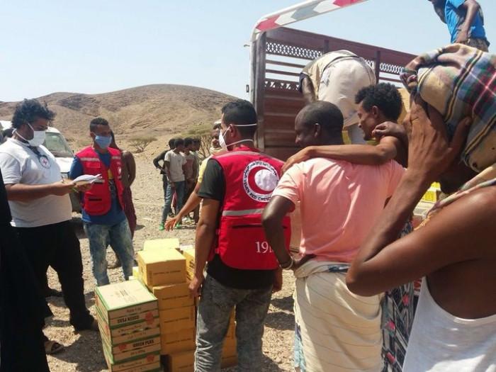 مساعدات متنوعة لـ 700 مهاجر غير شرعي في لحج