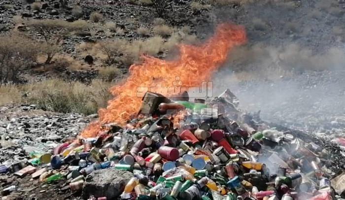 إتلاف مواد استهلاكية فاسدة بردفان
