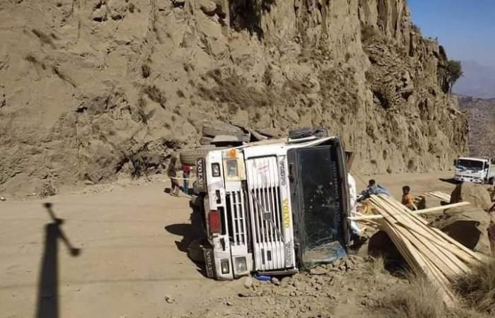 حادث مروري يغلق طريق هيجة - العبد
