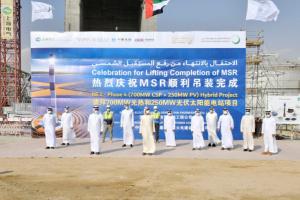 حاكم دبي يتفقد المرحلة الرابعة من مجمع محمد بن راشد للطاقة الشمسية