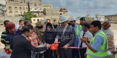 لملس يفتتح مساكب وقود حجيف ويدشن منشأة سهيل
