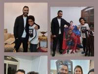 بالفيديو.. تامر حسني يحقق أمنية طفل ويزوره بمنزله