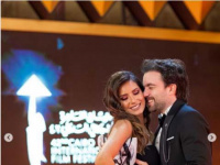ريهام أيمن تنشر صورها مع زوجها شريف رمزي في مهرجان القاهرة السينمائي