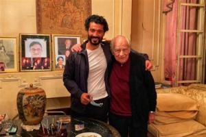 خالد النبوي يحتفل بعيد ميلاد رشوان توفيق