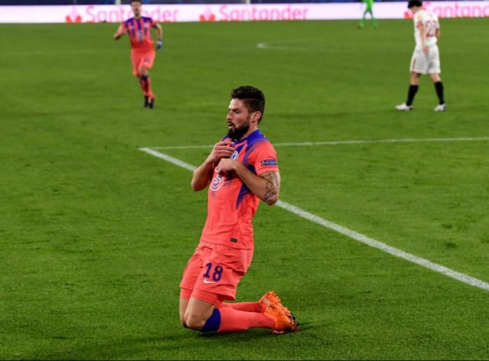 جيرو أفضل لاعب في الجولة الخامسة من دوري الأبطال