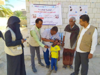 تطعيم 6432 طفلًا وطفلة بمديرية ساه