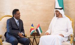 رئيس جمهورية سيشل يشكر دولة الإمارات على منح بلاده شحنة لقاحات كورونا