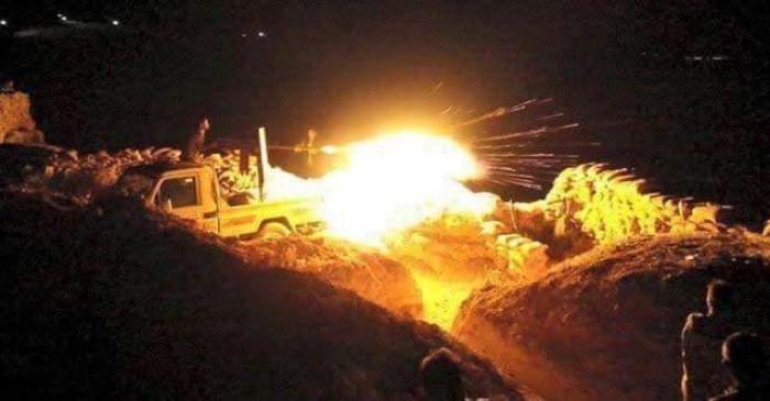 القضاء على أرتال حوثية معادية شمال الضالع