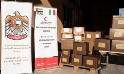 الهلال الأحمر الإماراتي يقدم مساعدات شتوية في إيطاليا