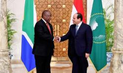السيسي يبحث ملف سد النهضة مع رئيس جنوب أفريقيا