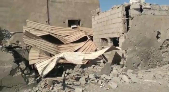 فيديو يوثّق أضرار القصف الحوثي لأحياء المنظر