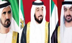 رئيس الإمارات وبن راشد وبن زايد يعزون الملك سلمان في وفاة الأمير خالد بن عبدالله بن عبدالرحمن