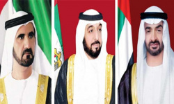رئيس دولة الإمارات وبن راشد وبن زايد يهنئون بايدن بتنصيبه رئيسًا لأمريكا
