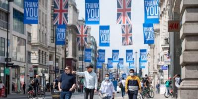 بريطانيا تُسجل 1348 وفاة و33552 إصابة جديدة بكورونا