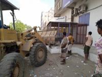 هدم التعديات في شوارع جعار الرئيسية