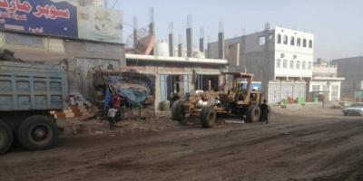 استئناف أعمال تأهيل طريق الحبيلين - العسكرية