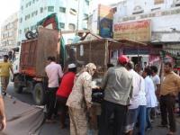 رفع الأكشاك العشوائية من شارع الثقافة بخورمكسر