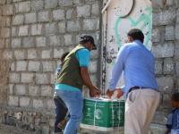 توزيع 112 طن أغذية في الخوخة