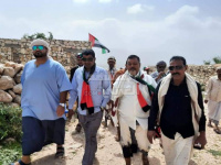 خليفة الإنسانية تفتتح طريق تامحك غرب سقطرى
