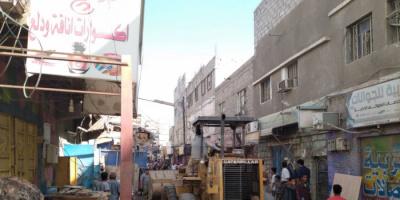 تكثيف جهود القضاء على العشوائيات بشوارع جعار