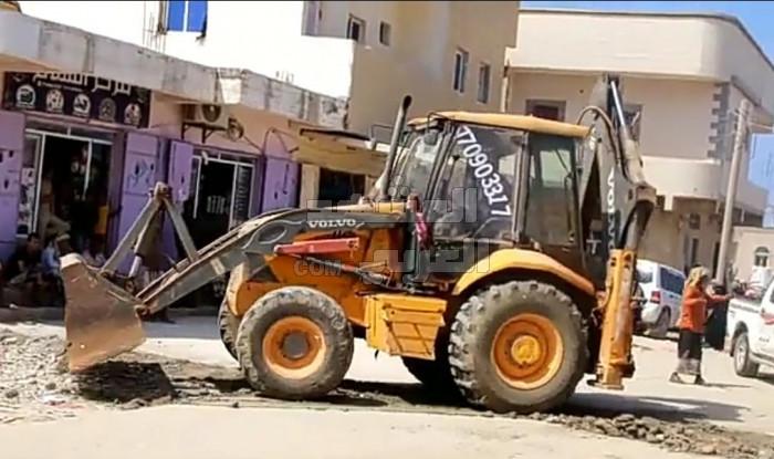 إزالة المطبات المخالفة من شوارع حديبو
