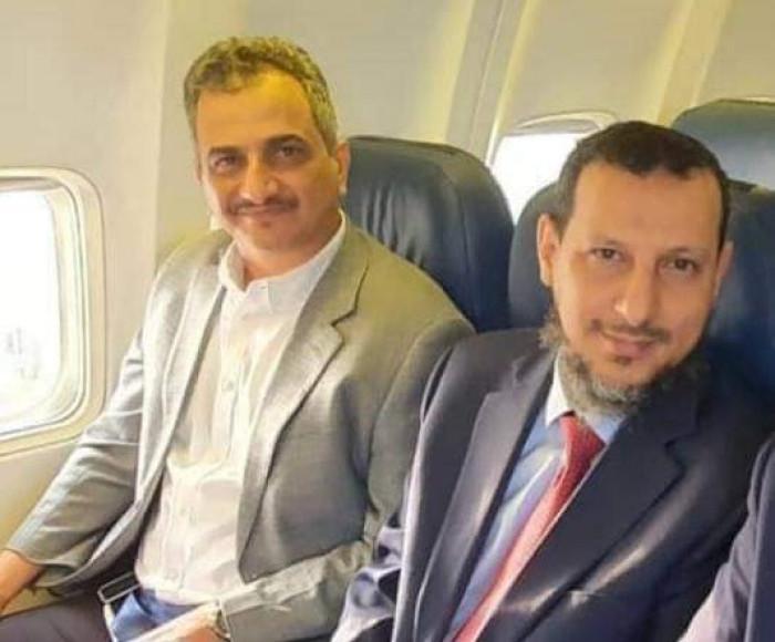 لملس يصل إلى مطار العاصمة عدن