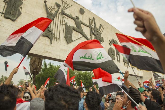 تظاهرات أمام السفارة التركية في بغداد احتجاجًا على توغل جيش أنقرة