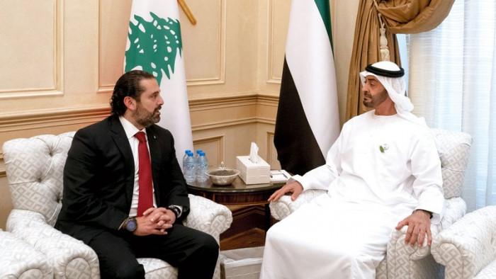 بن زايد يستقبل الحريري في قصر الشاطئ بأبوظبي