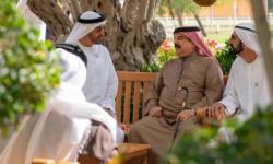 بن راشد وبن زايد يلتقيان العاهل البحريني في أبوظبي
