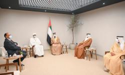 الشيخ منصور بن زايد يستقبل نائب رئيس مجلس السيادة السوداني