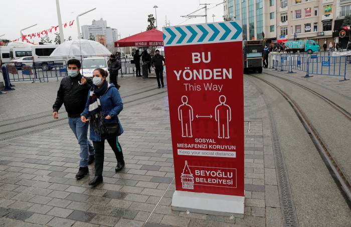 كورونا.. تركيا تسجل 78 وفاة و8104 إصابات