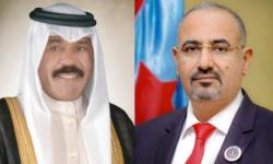 الزُبيدي مهنئًا أمير الكويت بذكرى التحرير: نتطلع لتطوير العلاقات الثنائية