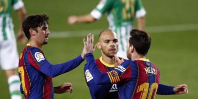 ميسي يقود تشكيل برشلونة لمواجهة إشبيلية في الدوري الإسباني