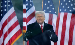 ترامب يلقي أول كلمة له بعد مغادرة السلطة