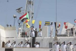 """""""البحرية السودانية"""" تستقبل فرقاطة حربية روسية"""