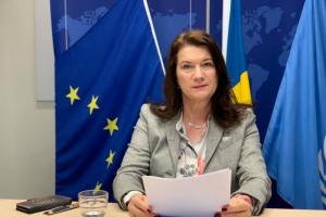 وزيرة خارجية السويد: ندعم الحل السياسي في اليمن بقوة