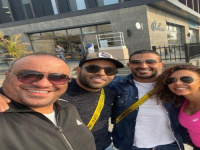 تامر عاشور بصحبة أحمد سعد وخطيبته في ظهور جديد (صور)