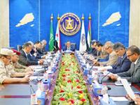 رئاسة الانتقالي تُراجع إجراءات حفظ الأمن بالجنوب