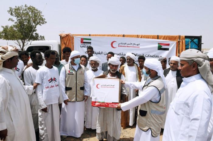 الهلال الأحمر الإماراتي يقدم المزيد من الإغاثة لمتضرري السيول بالسودان