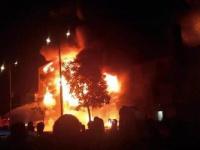 170 مصابًا بحريق مركز احتجاز المهاجرين بصنعاء