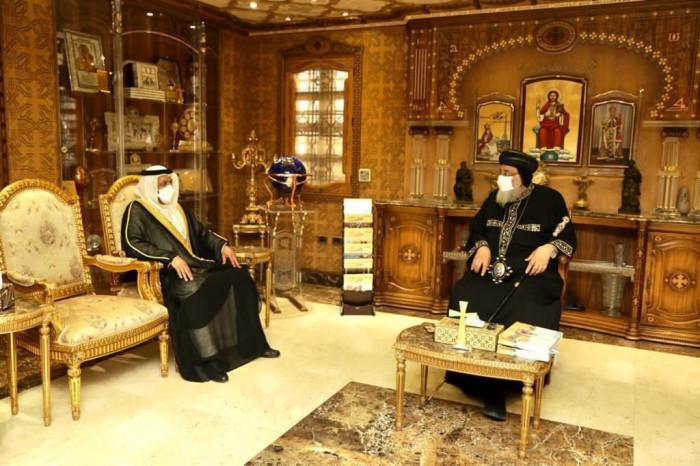 سفير الإمارات لدى مصر يلتقي بالبابا تواضروس الثاني