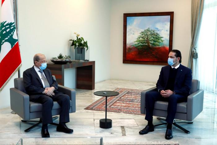الحريري يبحث مع الرئيس اللبناني تشكيل الحكومة الجديدة