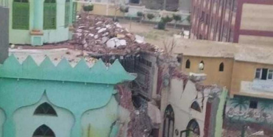 عاصفة قوية تضرب مصر.. سقوط مآذن 3 مساجد ومنزل