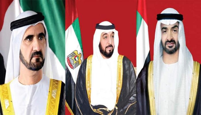 رئيس الإمارات وبن راشد وبن زايد يعزون السيسي في ضحايا قطاري سوهاج