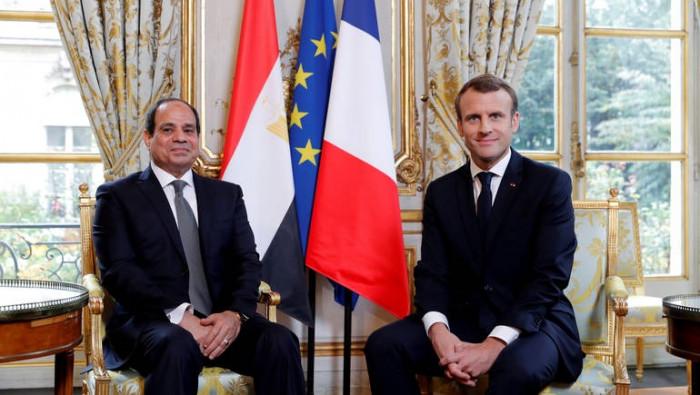 الرئيس المصري يؤكد لماكرون ضرورة خروج المرتزقة ووقف التدخل في ليبيا