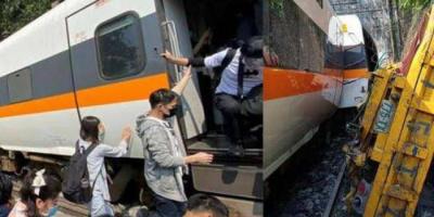مقتل 36 سخصًا في حادث قطار بتايوان