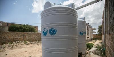 يونيسيف تُعيد تأهيل الخزانات لتوفير المياه للمنشآت