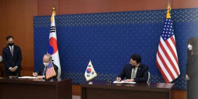 أمريكا وكوريا الجنوبية توقعان اتفاقية بشأن تقاسم التكلفة الدفاعية