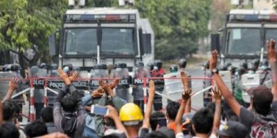 مقتل 11 متظاهرًا برصاص الأمن في ميانمار